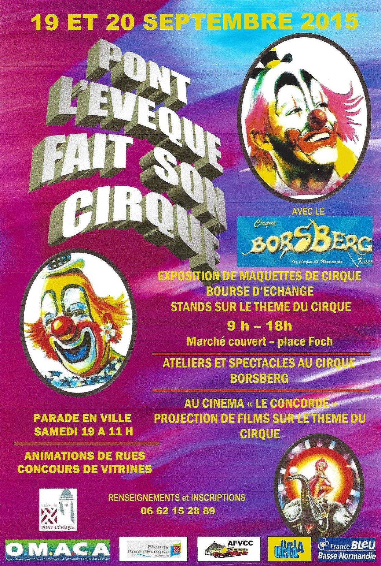 Affiche cirque 2015